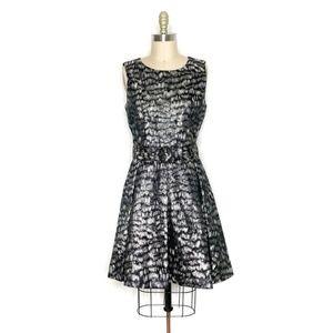 Nine West | Metallic Cocktail Flare Dress size 6